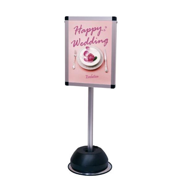 屋外ポールサインスタンド A3片面 シルバー OPSS-A3K 店舗看板 ポスター使用可 個人宅配送不可