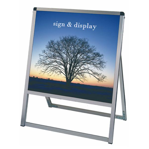 バリウススタンド看板 アルミ複合板タイプ 600×600片面 VASKAP-600X600K 屋外対応 A型看板 店舗看板 個人宅配送不可