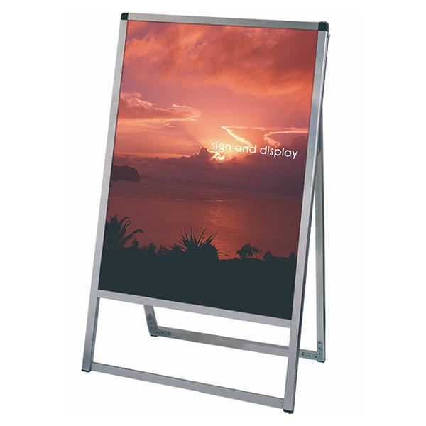 バリウススタンド看板 アルミ複合板タイプ 600×900片面 VASKAP-600X900K 屋外対応 A型看板 店舗看板 個人宅配送不可