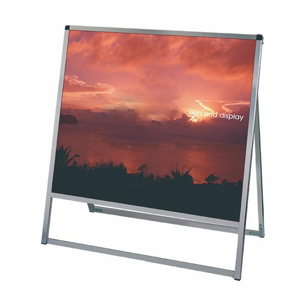 バリウススタンド看板 アルミ複合板タイプ 900×900片面 VASKAP-900X900K 屋外対応 A型看板 店舗看板 個人宅配送不可