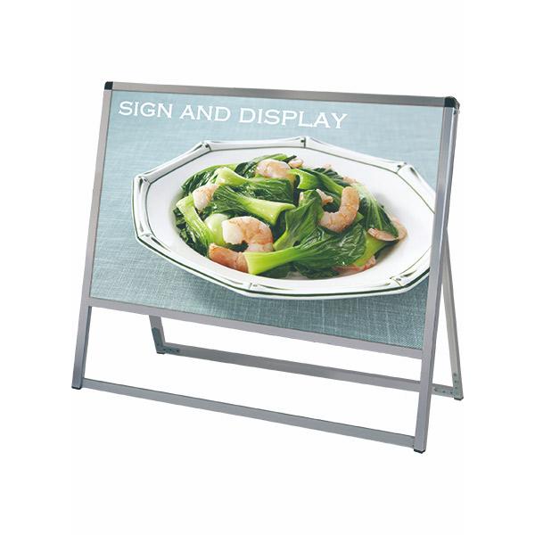 バリウススタンド看板 アルミ複合板タイプ 900×450片面 VASKAP-900X450K 屋外対応 A型看板 店舗看板 個人宅配送不可