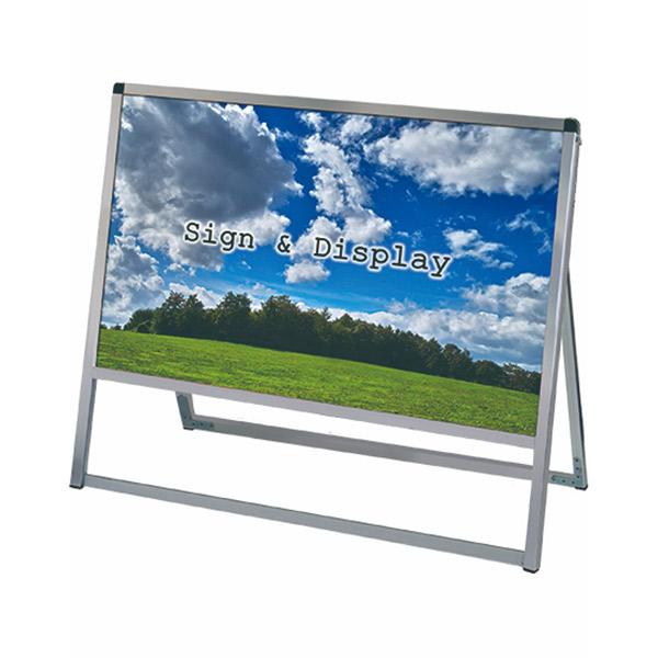 バリウススタンド看板 アルミ複合板タイプ 900×600片面 VASKAP-900X600K 屋外対応 A型看板 店舗看板 個人宅配送不可