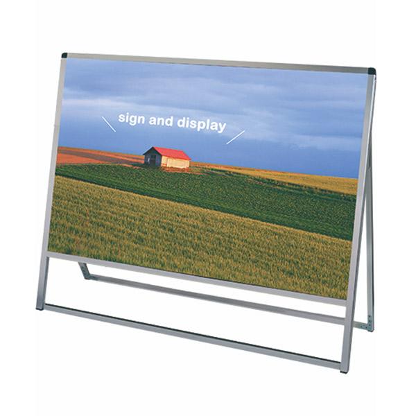 バリウススタンド看板 アルミ複合板タイプ 1200×900片面 VASKAP-1200X900K 屋外対応 A型看板 店舗看板 個人宅配送不可