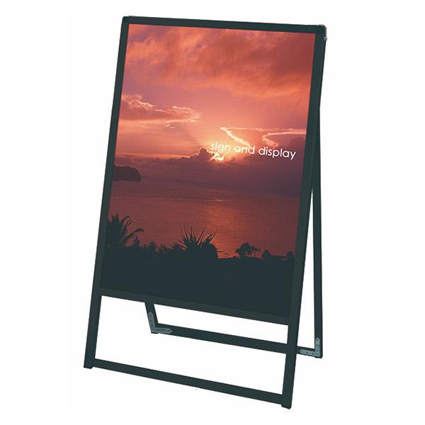 ブラックバリウススタンド看板 アルミ複合板タイプ 600×900片面 BVASKAP-600X900K 屋外対応 A型看板 店舗看板 個人宅配送不可