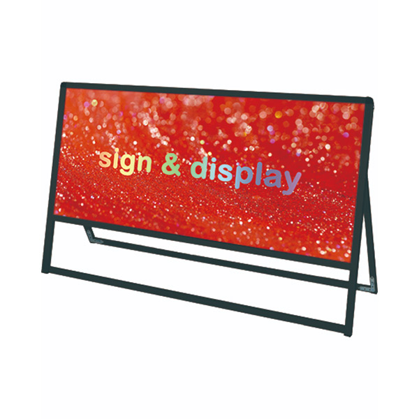 ブラックバリウススタンド看板 アルミ複合板タイプ 1200×600片面 BVASKAP-1200X600K 屋外対応 店舗看板 個人宅配送不可