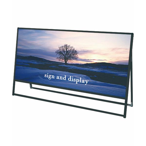ブラックバリウススタンド看板 アルミ複合板タイプ 1800×900片面 BVASKAP-1800X900K 屋外対応 店舗看板 個人宅配送不可