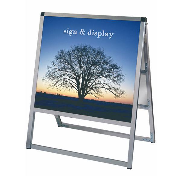 バリウススタンド看板 アルミ複合板タイプ 600×600両面 VASKAP-600X600R 屋外対応 A型看板 店舗看板 個人宅配送不可