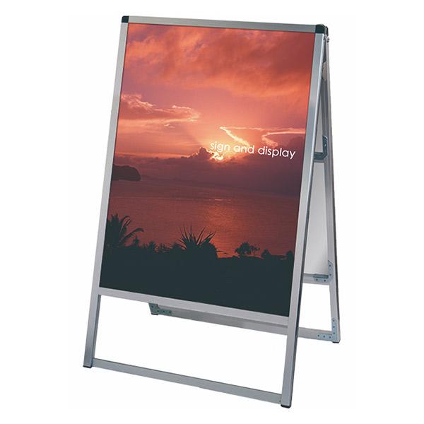 バリウススタンド看板 アルミ複合板タイプ 600×900両面 VASKAP-600X900R 屋外対応 A型看板 店舗看板 個人宅配送不可
