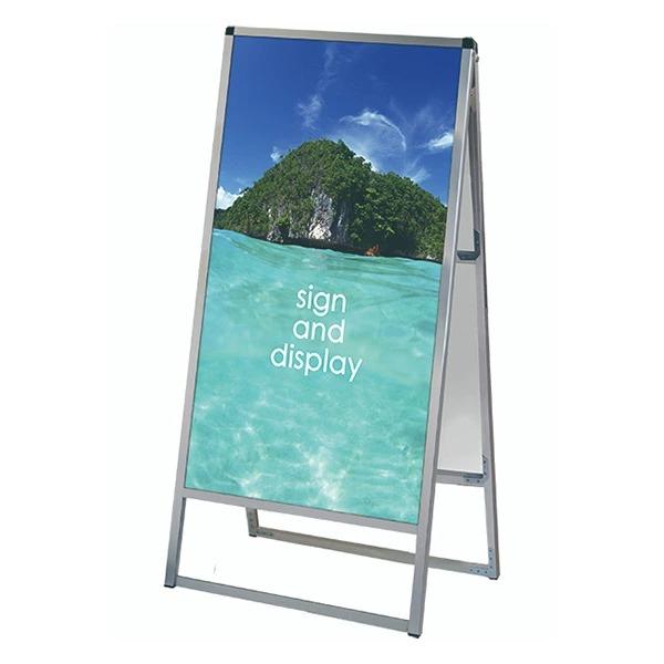 バリウススタンド看板 アルミ複合板タイプ 600×1200両面 VASKAP-600X1200R 屋外対応 A型看板 店舗看板 個人宅配送不可