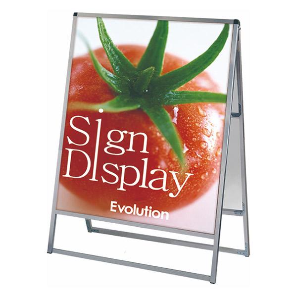 バリウススタンド看板 アルミ複合板タイプ 900×1200両面 VASKAP-900X1200R 屋外対応 A型看板 店舗看板 個人宅配送不可