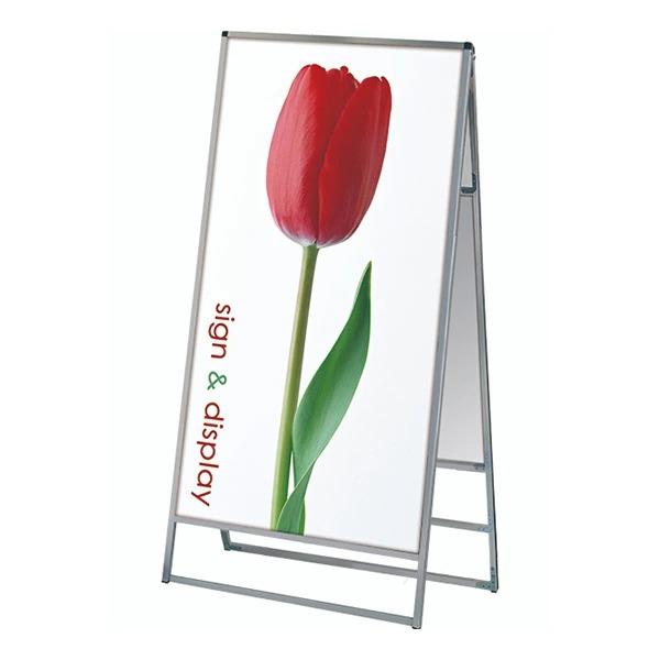 バリウススタンド看板 アルミ複合板タイプ 900×1800両面 VASKAP-900X1800R 屋外対応 A型看板 店舗看板 個人宅配送不可