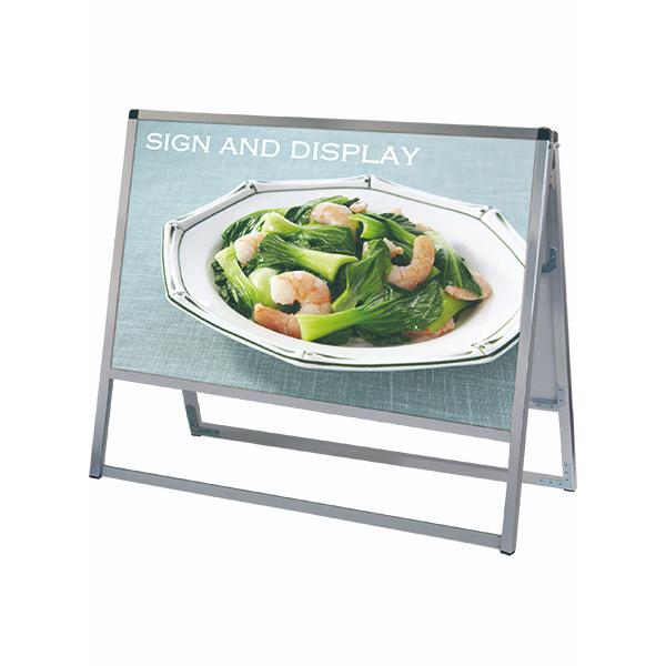 バリウススタンド看板 アルミ複合板タイプ 900×450両面 VASKAP-900X450R 屋外対応 A型看板 店舗看板 個人宅配送不可
