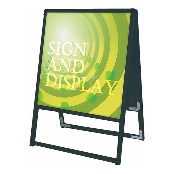 ブラックバリウススタンド看板 アルミ複合板タイプ 450×450両面 BVASKAP-450X450R 屋外対応 A型看板 店舗看板 個人宅配送不可