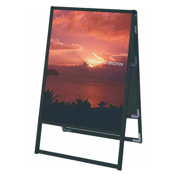 ブラックバリウススタンド看板 アルミ複合板タイプ 600×900両面 BVASKAP-600X900R 屋外対応 A型看板 店舗看板 個人宅配送不可