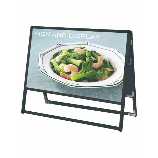 ブラックバリウススタンド看板 アルミ複合板タイプ 900×450両面 BVASKAP-900X450R 屋外対応 A型看板 店舗看板 個人宅配送不可