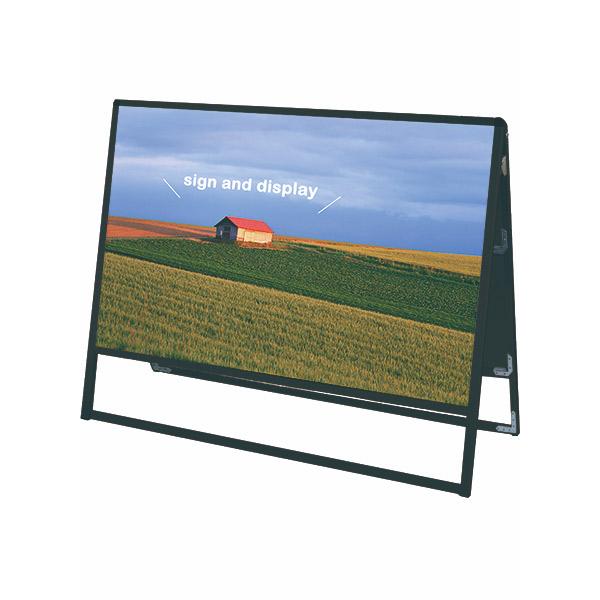 ブラックバリウススタンド看板 アルミ複合板タイプ 1200×900両面 BVASKAP-1200X900R 屋外対応 店舗看板 個人宅配送不可