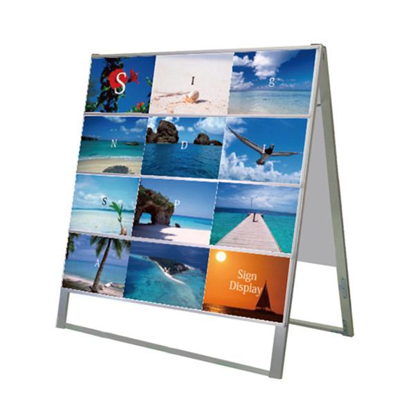 カードケーススタンド看板 A4横24両面 CCSK-A4Y24R 屋外対応 店舗看板 メニュー A型看板 個人宅配送不可