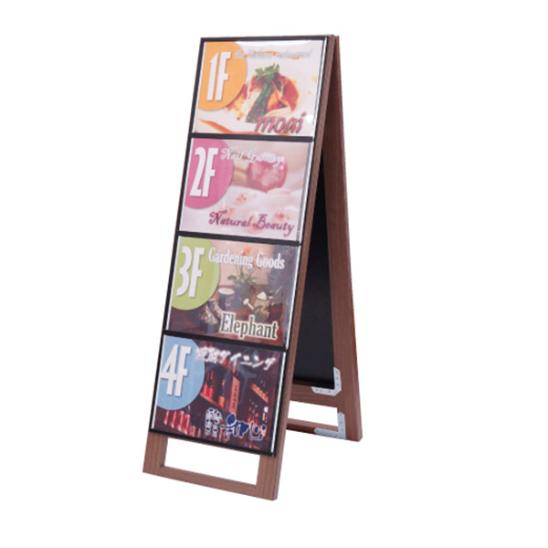 木製カードケーススタンド看板 A4横8両面 WD-CCSK-A4Y8R 屋外対応 店舗看板 メニュー A型看板 個人宅配送不可
