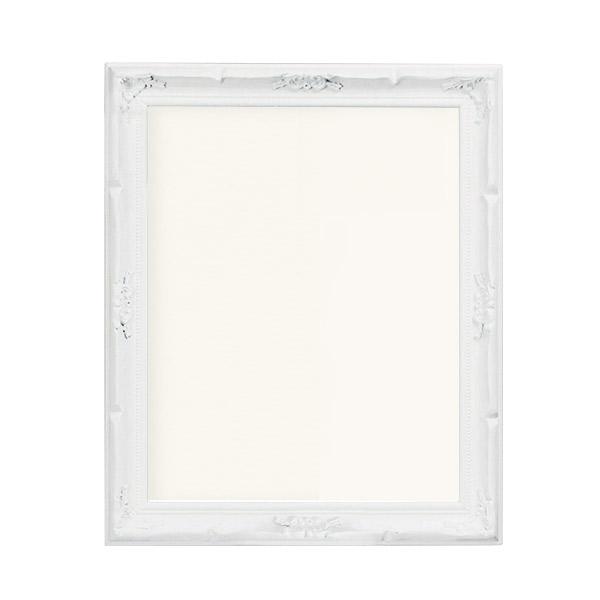 デコール 半切 200073 額縁 アンティーク ポスターアート ホワイト