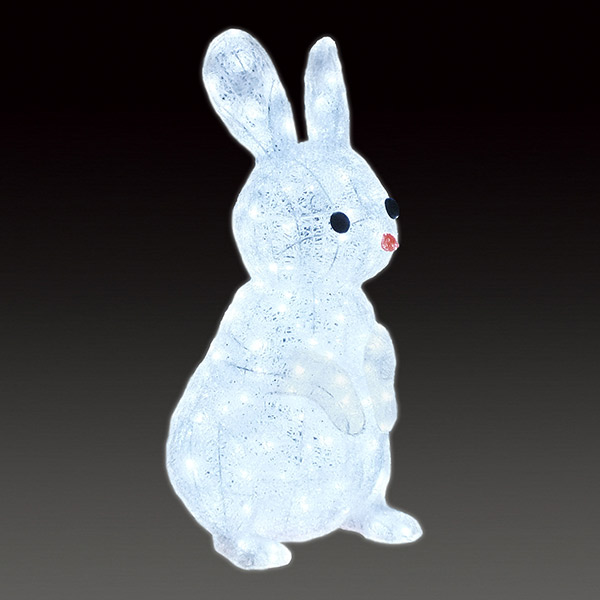LEDクリスタルグロー ウサギ ACR-AM-RAB 一体型 連結不可 常時点灯 防雨仕様 100V 【要在庫確認】