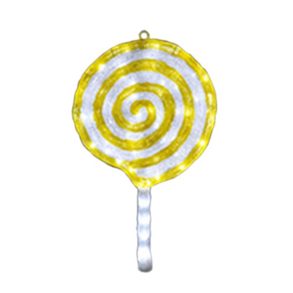 LEDクリスタルグロー ロリポップ ACR-SWT-LLE レモン(選べるカラー) 【要在庫確認】
