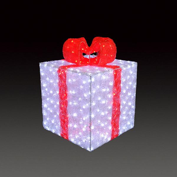 LEDクリスタルグロー ギフトボックス(大) ACR-GB-RL レッド(選べるカラー) 【要在庫確認】