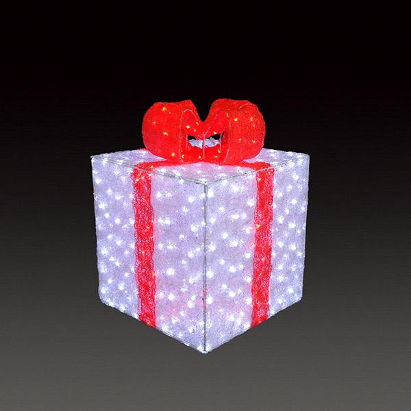 LEDクリスタルグロー ギフトボックス(中) ACR-GB-RM レッド(選べるカラー) 【要在庫確認】