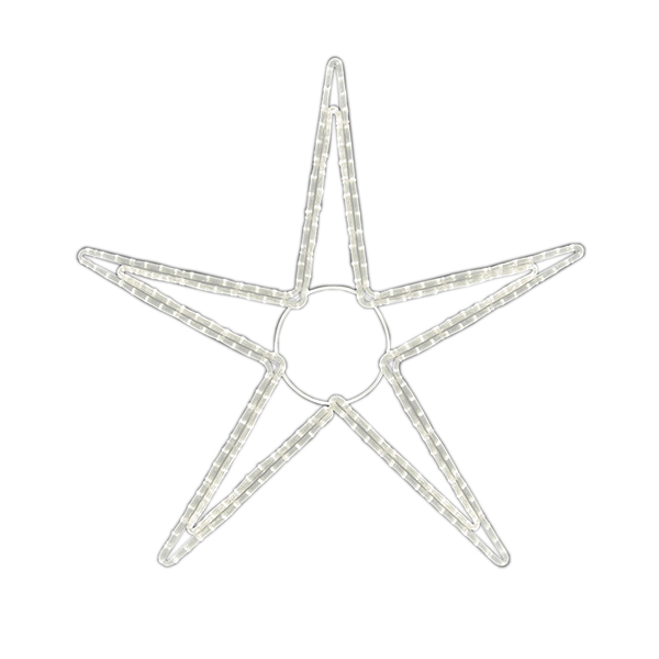 LEDロープライト ペンタスターB(大) ALRM-ST-PTBL 5ヶセット 一体型 常時点灯 防雨仕様 100V 【要在庫確認】