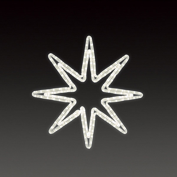 LEDロープライト オクタスターB(小) ALRM-ST-OTBS 5ヶセット 一体型 常時点灯 防雨仕様 100V 【要在庫確認】