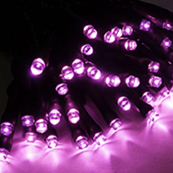 ブライト LEDストリングライト ピンク ALBR-100PB ブラック(選べるコード) 40ヶセット 屋内仕様 100V 【要在庫確認】
