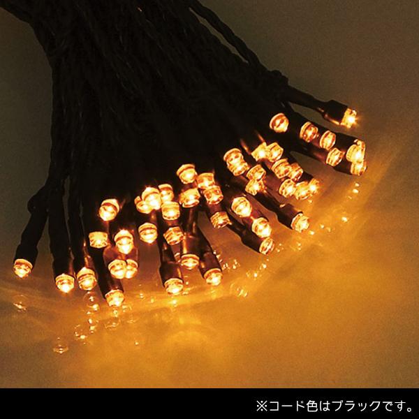 プレミアムスリム LEDストリングライト コードブラック ALPS-100AB アンバー (選べるカラー) 40ヶセット【要在庫確認】