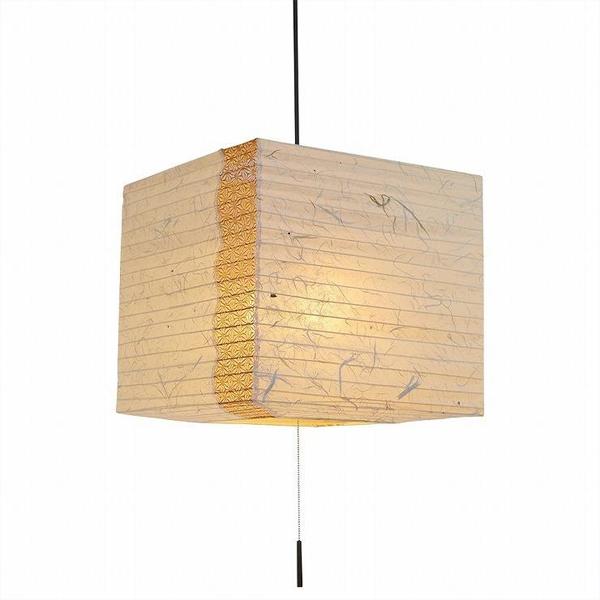ペンダントライト 黒雲龍×麻葉唐茶 SPN2-1112 和風照明 和室 和紙 おしゃれ