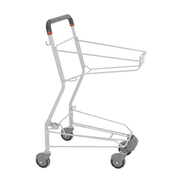 ショッピングカート SV501-C100 足元バンパー 傘立て(杖立て)付き 送料実費 ダークグレー