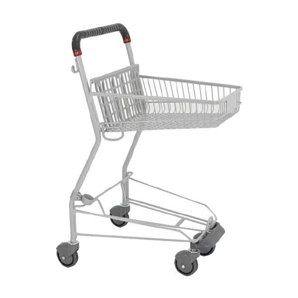 ショッピングカート SV502-C100 足元バンパー 傘立て(杖立て) 要法人名 ダークグレー