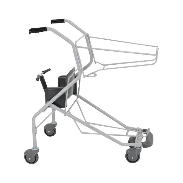 ショッピングカート SV571-C100 幼児座席 足元バンパー 傘立て付き 要法人名 ダークグレー