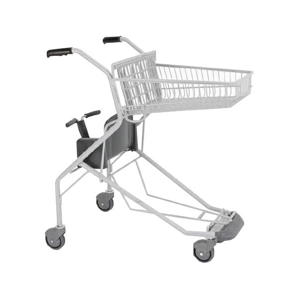 ショッピングカート SV572-C100 幼児座席 足元バンパー 傘立て 送料実費ダークグレー