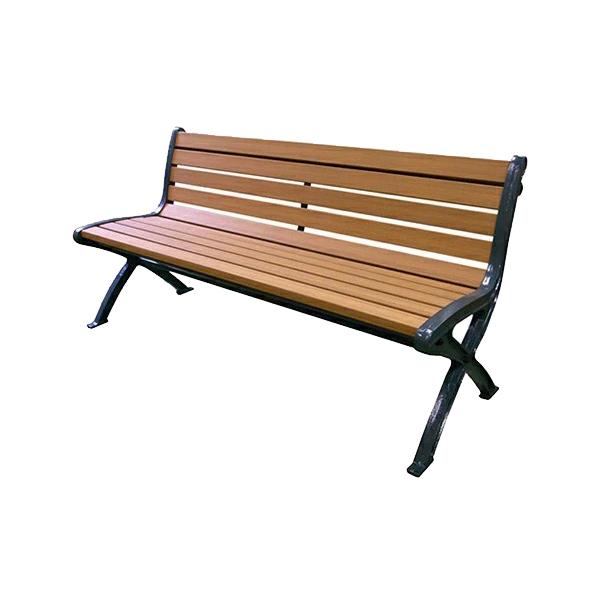 リサイクルベンチ RB5-SW・背付 249-0130 施設用 屋外用