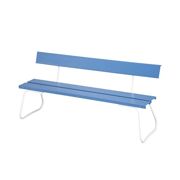 樹脂ベンチ 背付 ECO-NO1500 YB-94Z-PC 施設用 屋内外ベンチ