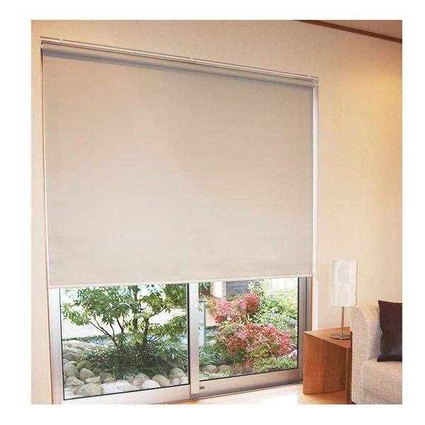 遮光2級 防炎 ロールスクリーン 91~135×201~250cm オーダーロールアップスクリーン  (選べるカラー)