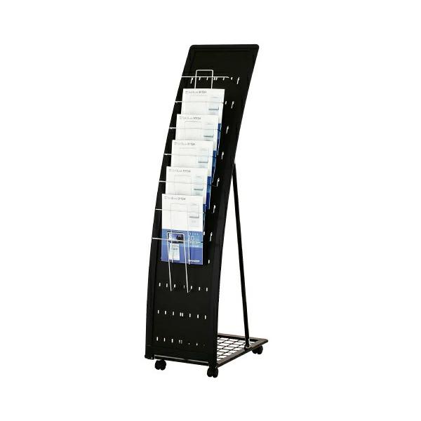 R型カタログスタンド(ブラック)【97】 PRX-071 片面 A4 1列7段 要法人名