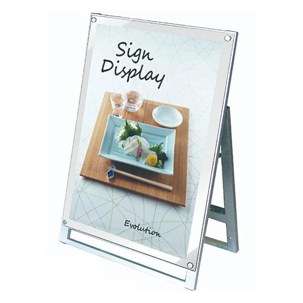 ポスター用スタンド看板 ホワイト PSSK-A1LKW 1M以下 A型看板 個人宅配送不可