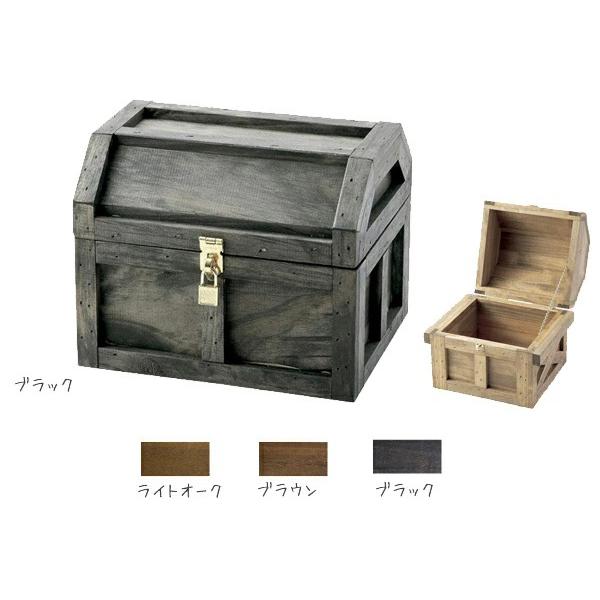 海賊宝箱S #13025 金具は全てゴールド仕様なので高級感もあります。( 選べるカラー)