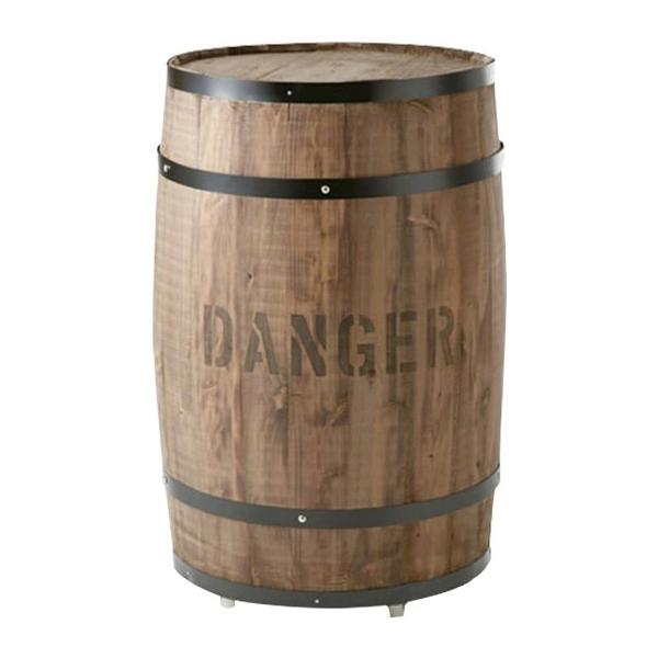 樽(たる)ステージ 茶 特大(CP-8)キャスター付き #990169 コーヒー樽を忠実に再現した新品です。