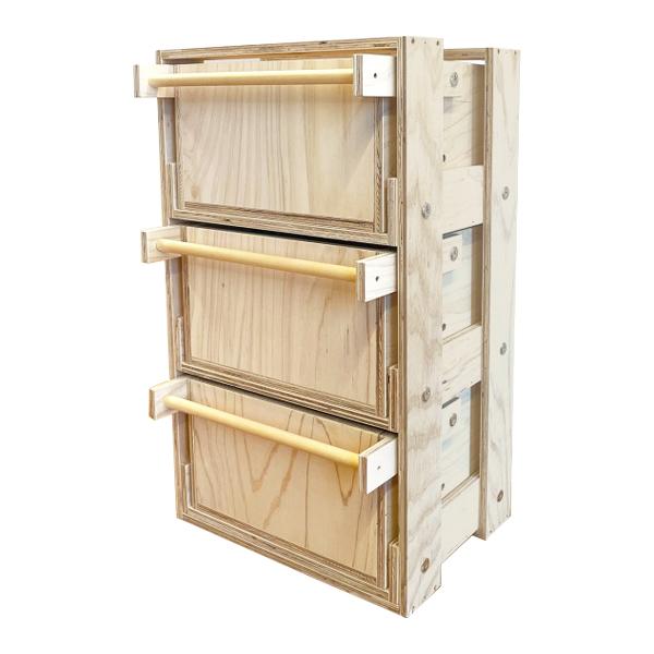 アパートメントシェルフ 3段ロビンセット #77021 木製 小物 収納