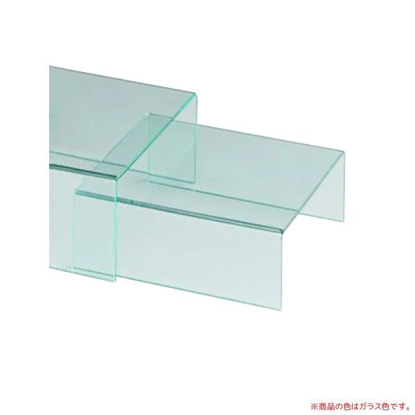 送料無料 沖 離以外 テーブル 送料0円 コの字台 3台セット KG-16 アクリル製品 マート ガラス色
