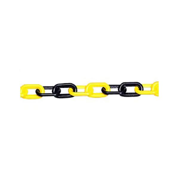 プラスチックチェーン 40メートル 871-17 屋外用 黄黒