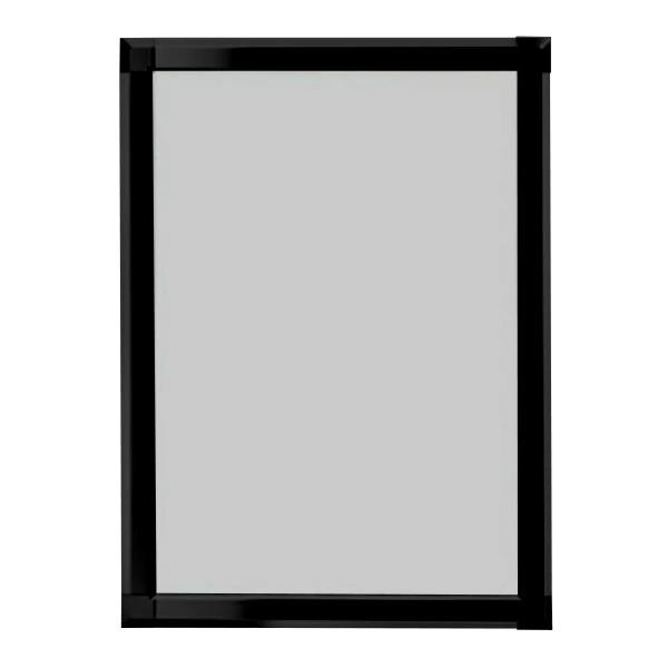 A1 両面用 PG-44S ポスターグリップ 44mm幅 角型 (金・銀・黒・白) 要法人名  (選べるフレームカラー)