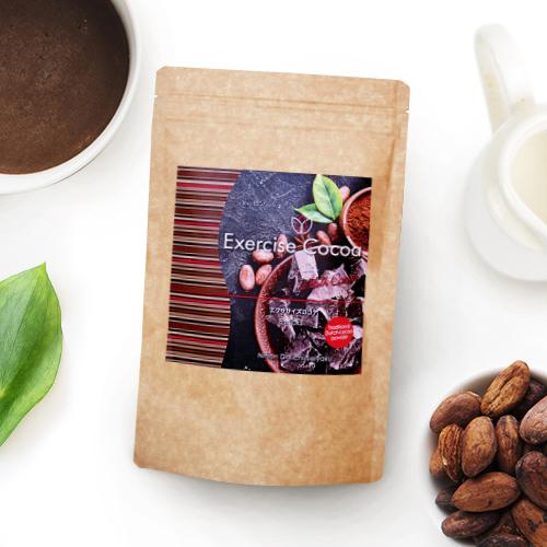 お金を節約 これなら続く 簡単ダイエットサポート エクササイズココア 1袋8本入 約8日分 食物繊維 コーヒー豆エキス ミルクエキス コエンザイムQ10 新作からSALEアイテム等お得な商品 満載 L-カルニチン コーヒークロロゲン酸
