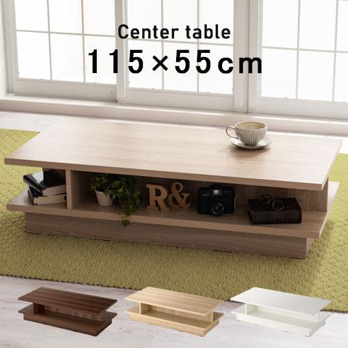 テーブル 机 ロー リビング 木製 長方形 全3色 TBL500386