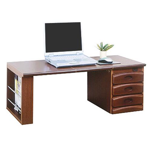 パソコンデスク 木製 天然木 ワンタッチ文机 パソコン机 desk 収納 机 書斎机 コンセント付 マガジンラック 引き出し付 おしゃれ